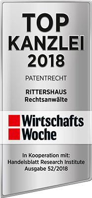 WirtschaftsWoche, Top Kanzlei 2018