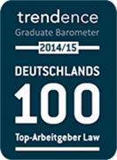 trendence 2014/15, Deutschlands 100 Top-Arbeitgeber Law
